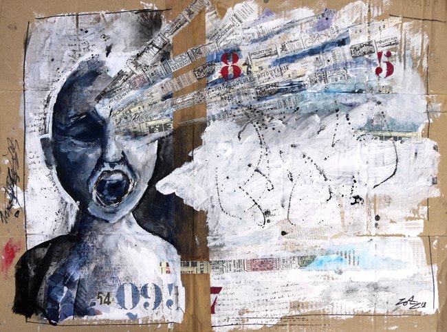 Extrêmement peinture sur carton - Cultura WA76