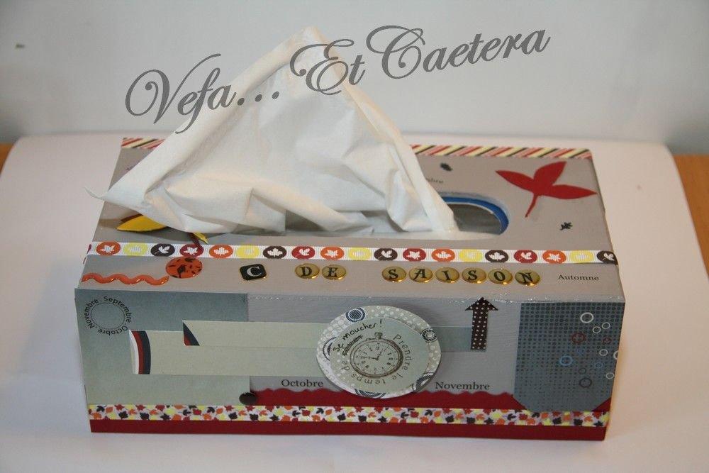 La bo te mouchoirs en bois lue produit cr atif du mois for Boite a couture a decorer