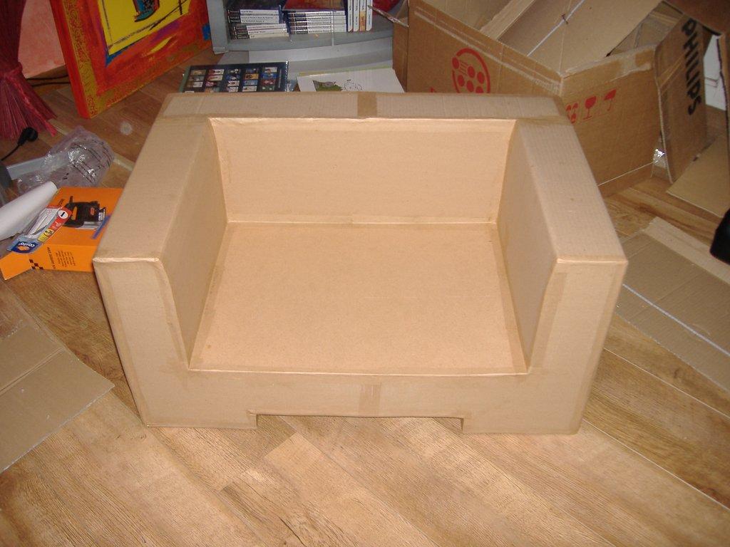 fauteuil pour chien en carton pas pas cultura. Black Bedroom Furniture Sets. Home Design Ideas