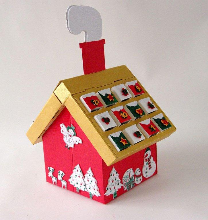 Calendrier de l 39 avent maison en carton cultura - Calendrier maison de l avent ...