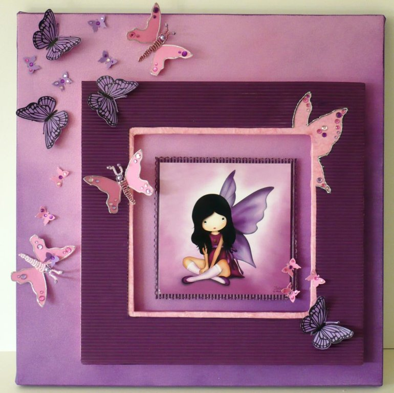 Pas pas joli papillon par christine anim lescar for Materiel encadrement tableaux