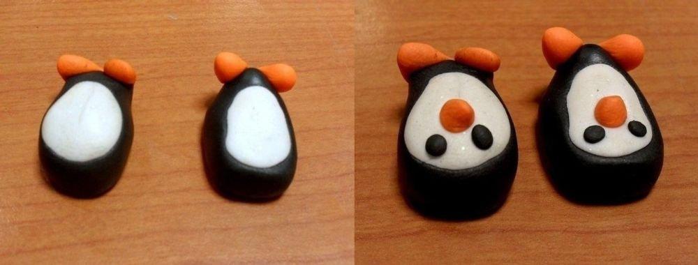 Boucles d 39 oreilles pingouin p te fimo cultura - Que faire en pate fimo ...