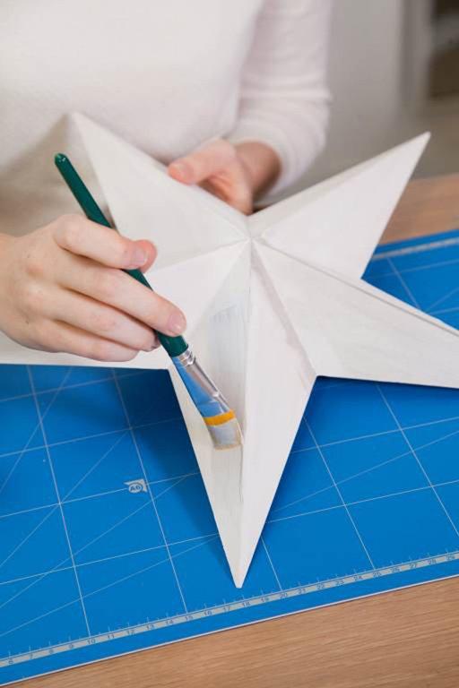tuto de no l customiser une toile origami cultura. Black Bedroom Furniture Sets. Home Design Ideas