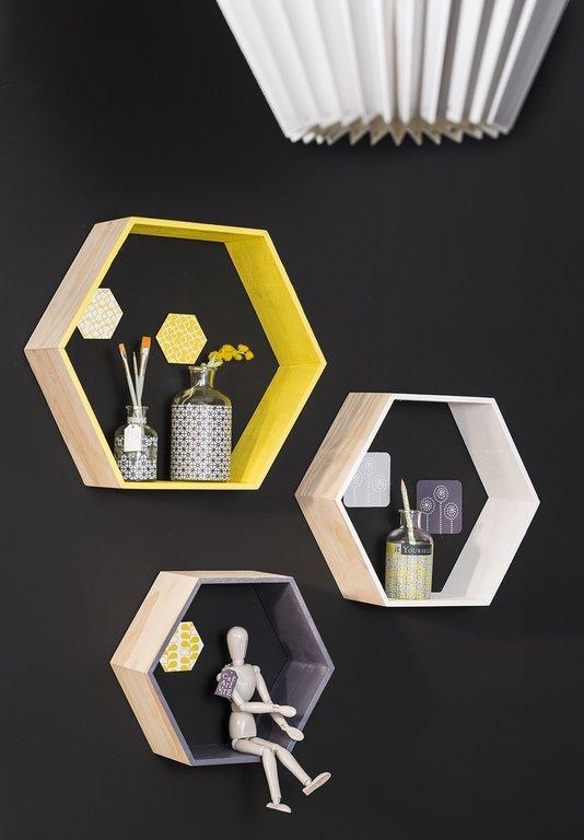 customiser des etag res hexagonales cultura. Black Bedroom Furniture Sets. Home Design Ideas