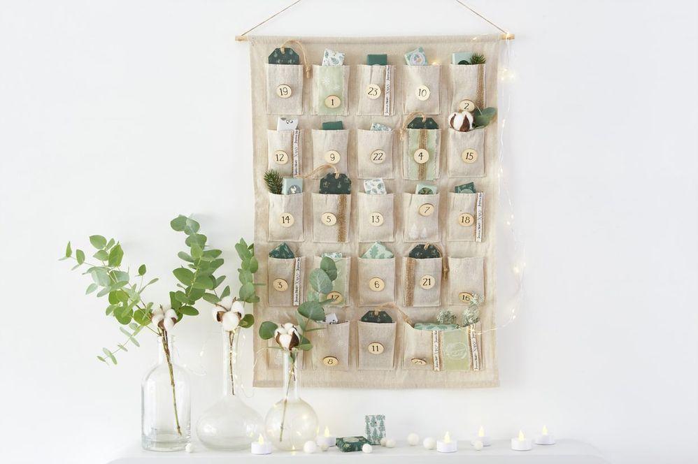 ETAPE 8/8 Le calendrier est prêt pour décorer votre intérieur en attendant Noël.