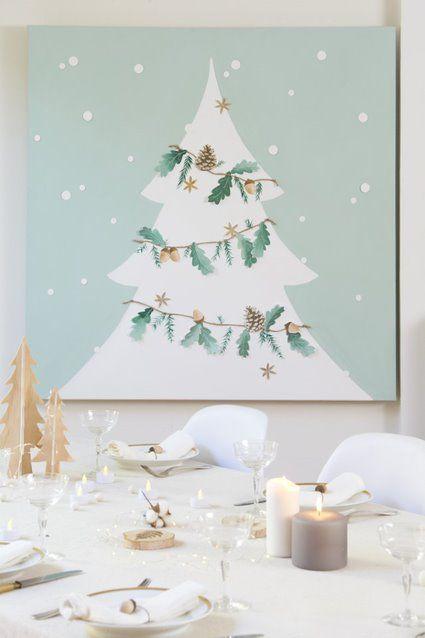 ETAPE 9/9 La toile est prête pour décorer votre intérieur et y déposer au pied vos cadeaux de Noël.