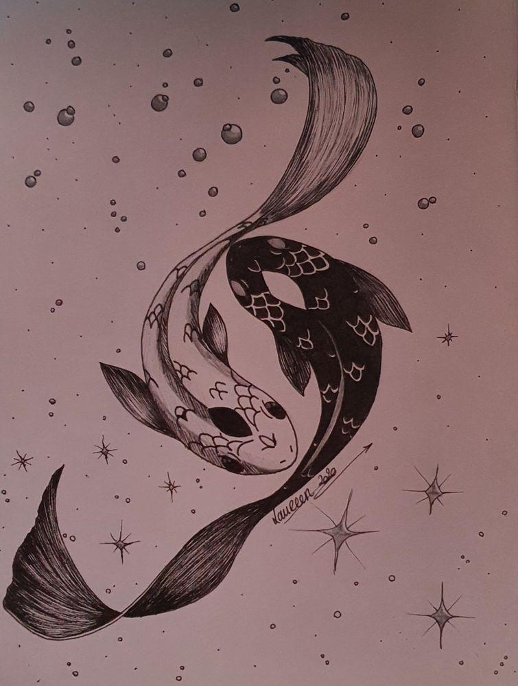 Défi Inktober- jour 1- poisson-