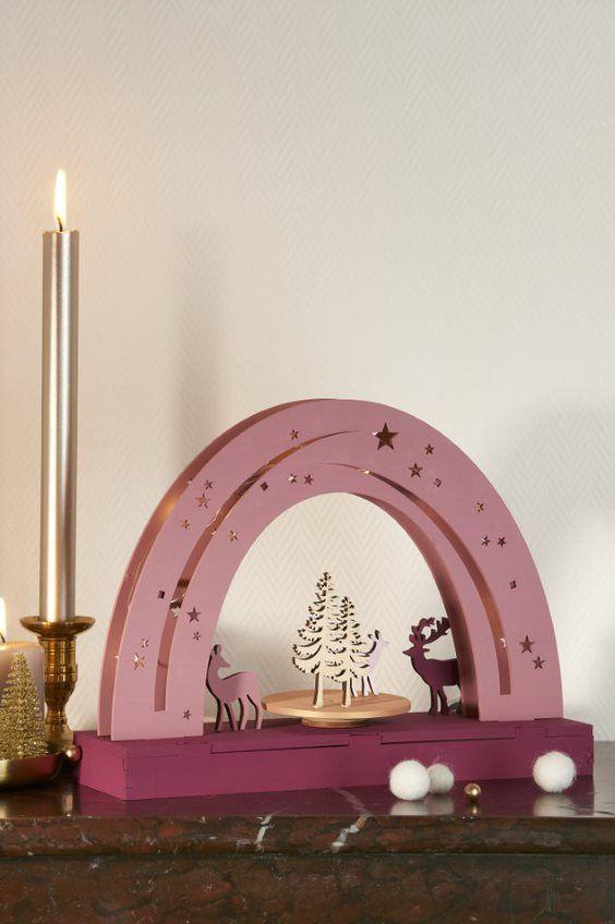 ETAPE 7/7 L'arc lumineux est prêt pour décorer votre intérieur en attendant Noël.