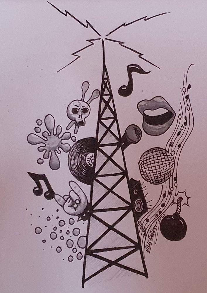 """Jour 4 - radio- parceque j'aime beaucoup la musique, voici ce que m'a inspiré le mot """"radio"""""""