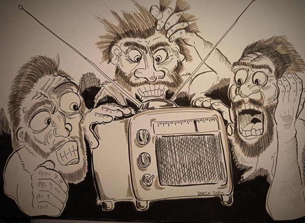Inktober 2020 / jour 4 : Radio