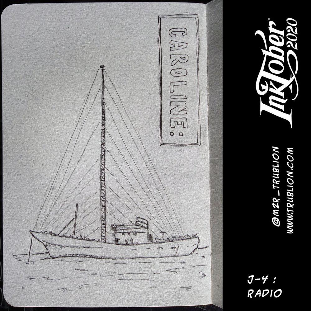 Radio (Caroline) - Inktober 2020