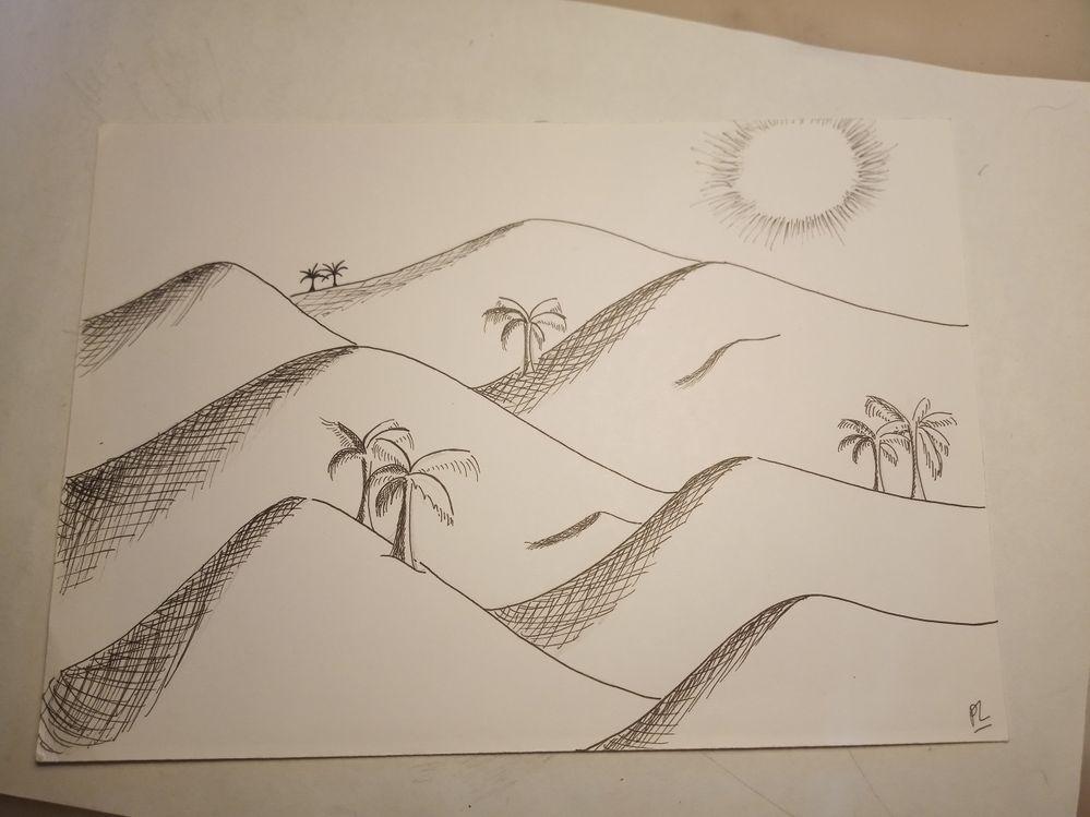 Inktober jour 13 : dune