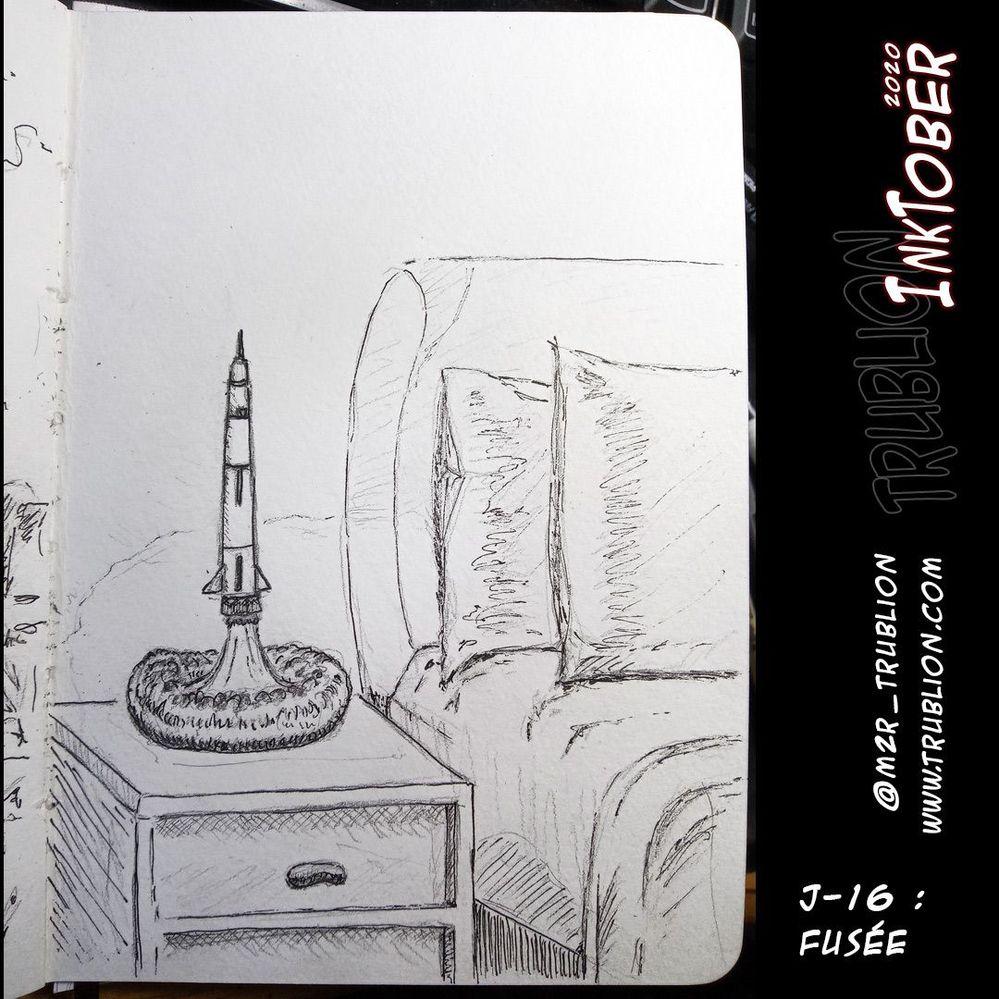 Fusée - Rocket - Inktober 2020