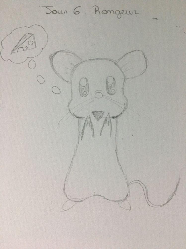 Jour 6 : Rongeur ( une souris gourmande )