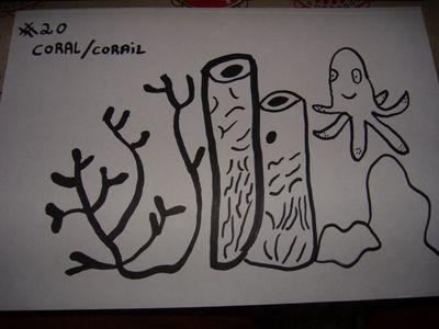 20-inktober Coral/ corail