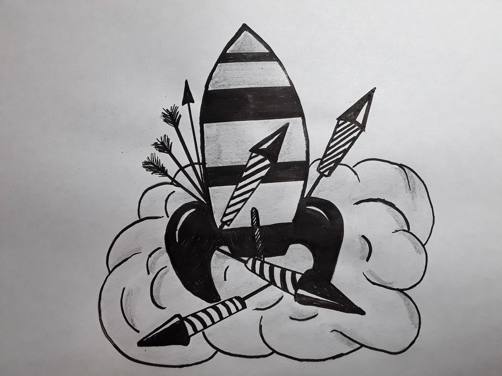 JOUR 16 : fusée,  flèche,  roquette