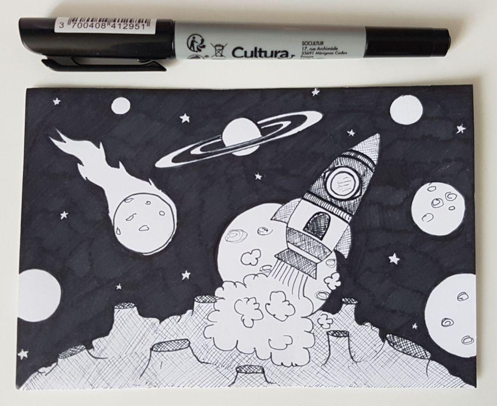 Inktober Jour 16 : Rocket