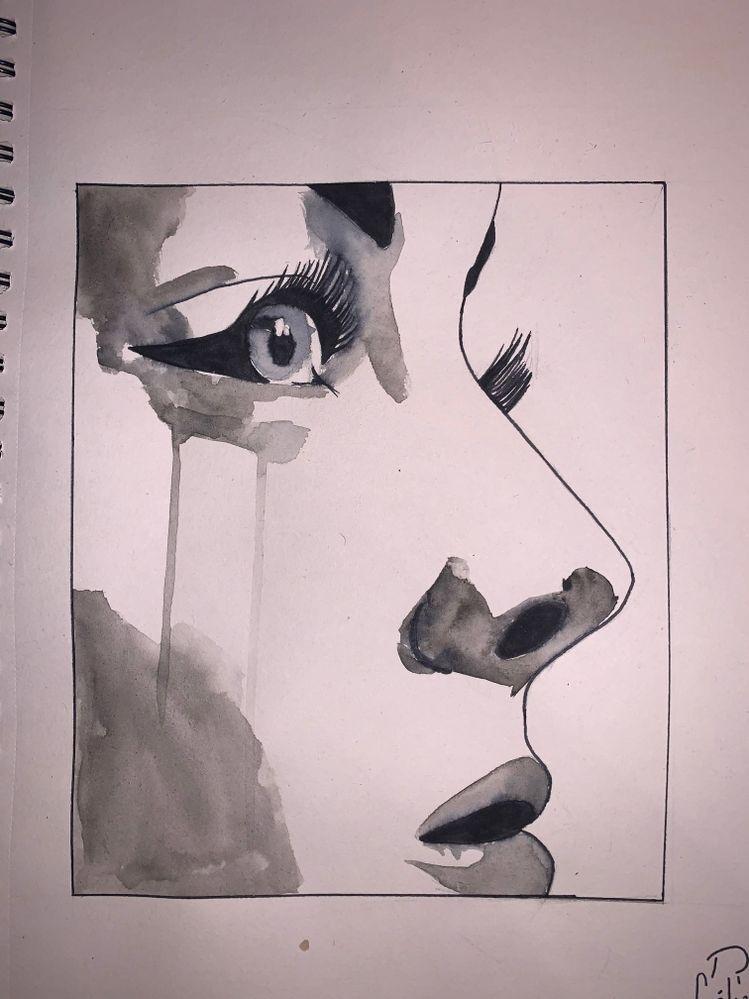 23 : RIP / DECHIRURE, DECHIRER  un être déchiré et triste. représentation de  la blessure émotionnelle