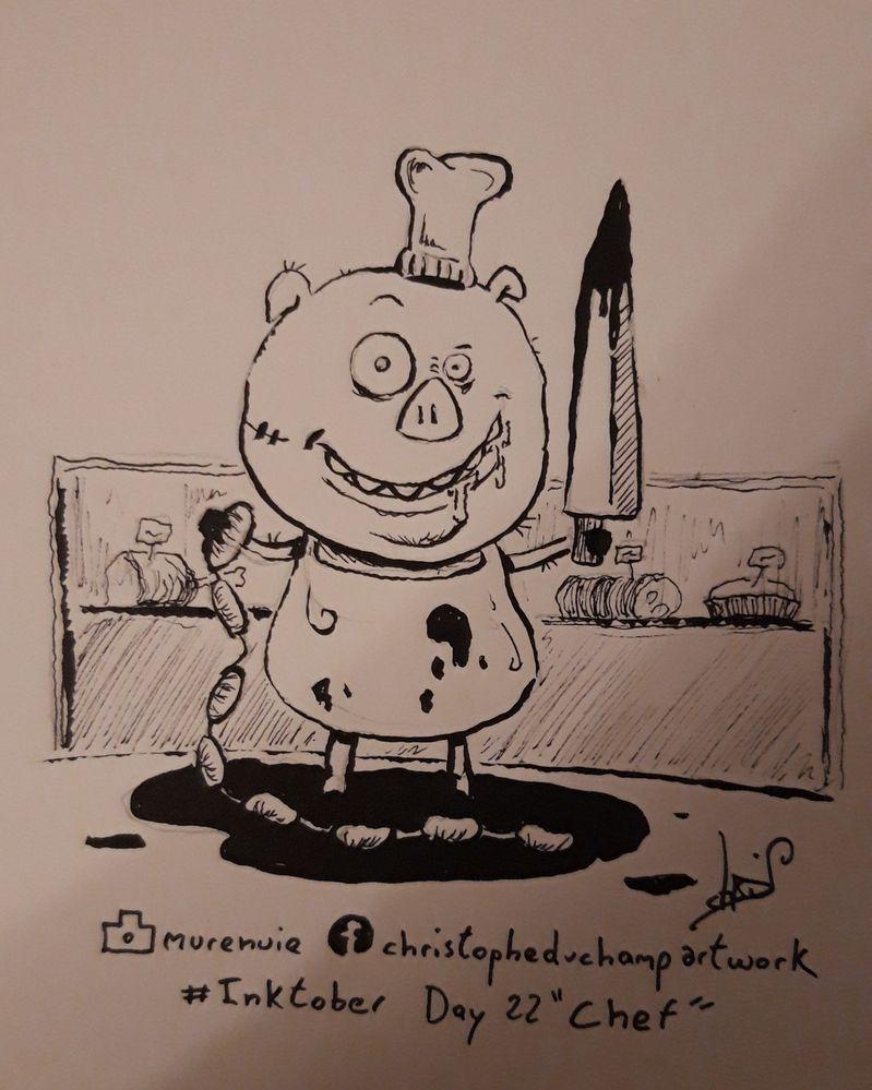 """Jour 22 avec """"Chef"""" Grouuuiic tout est bon dans le cochon"""