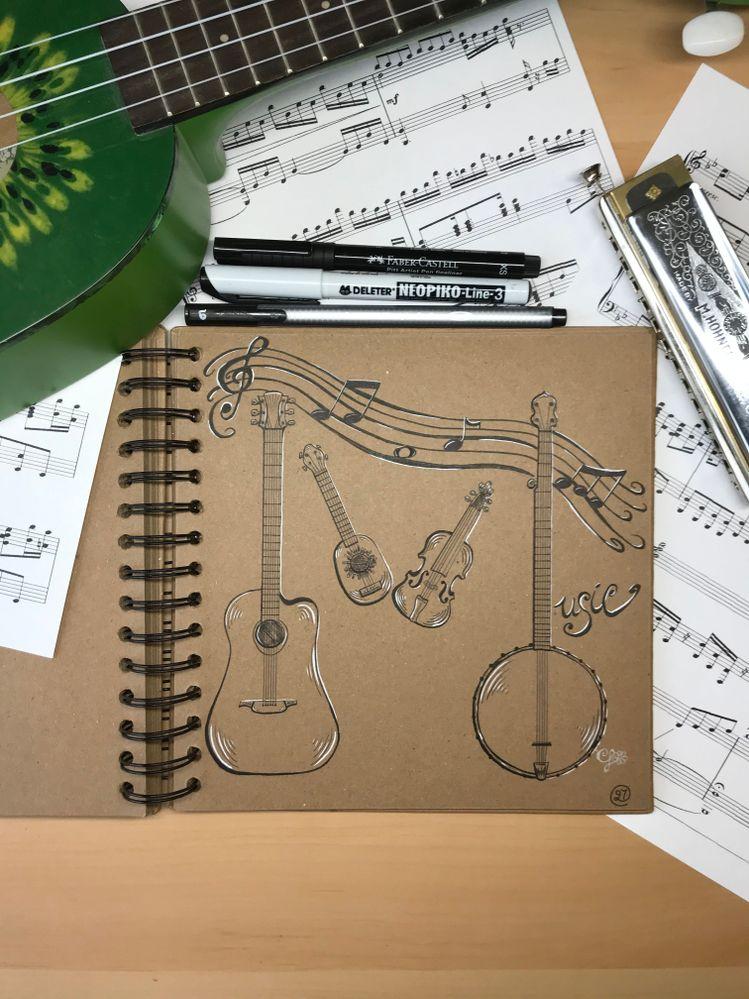 Inktober jour 27: music