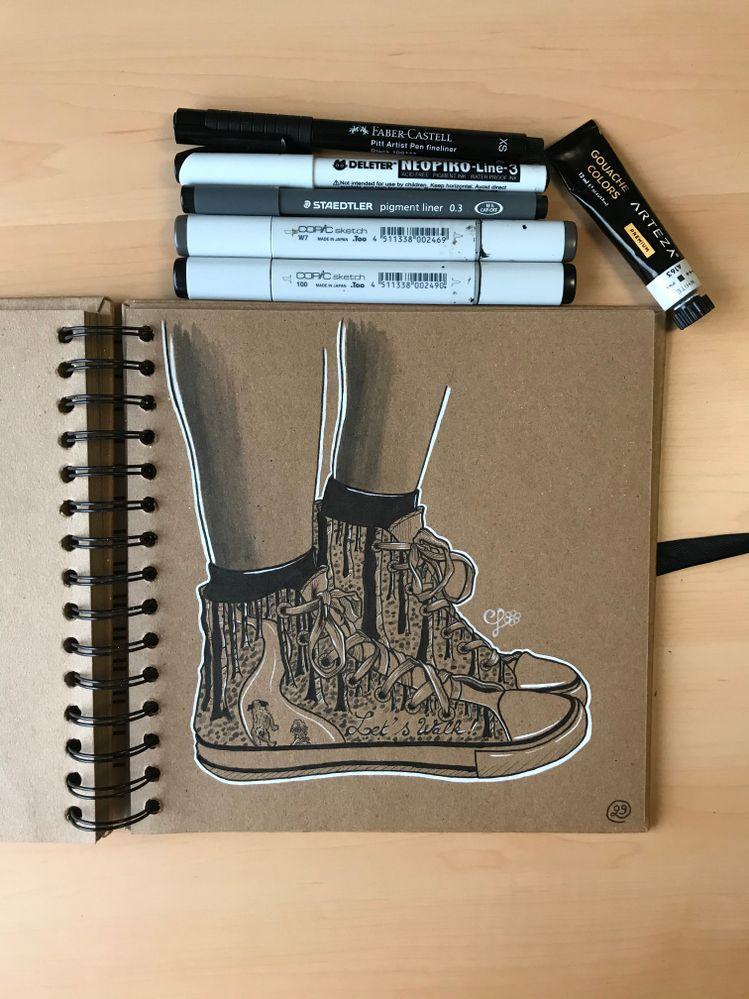 Inktober jour 29: shoes