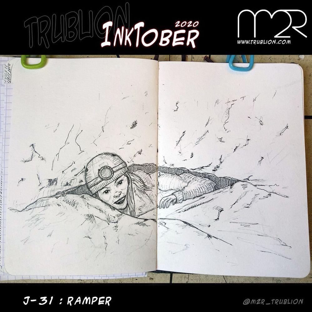 Crawl / Ramper - Inktober 2020 -Défi..ni