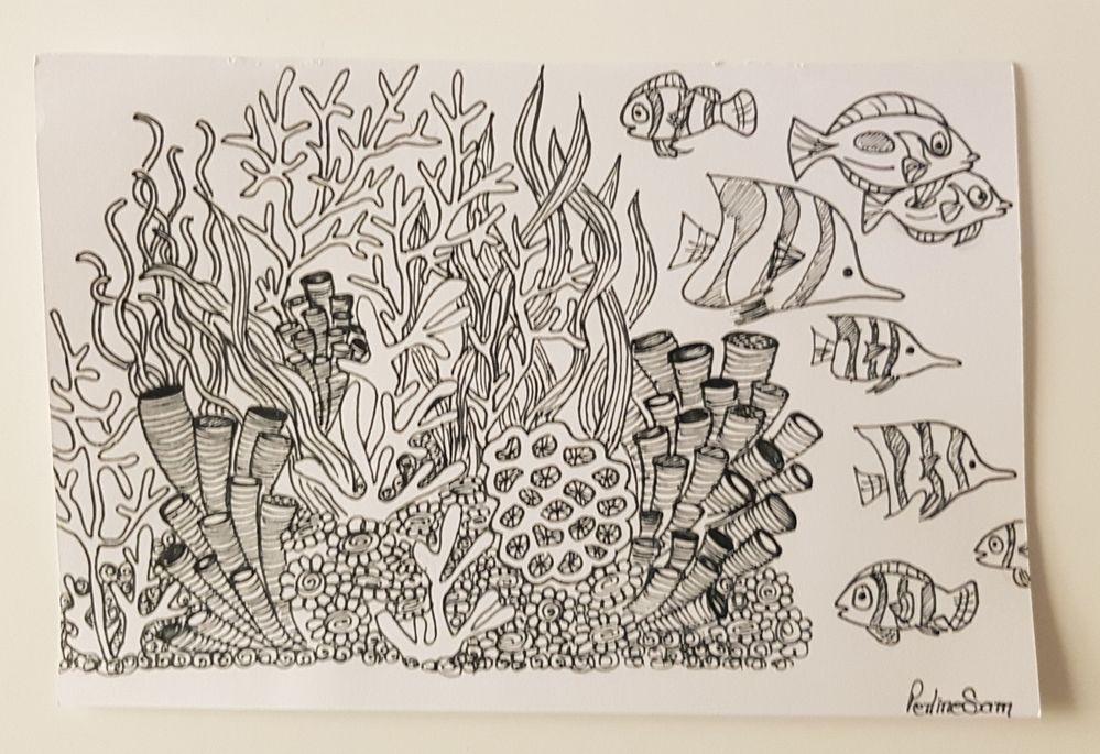 Inktober Jour 20 : Corail