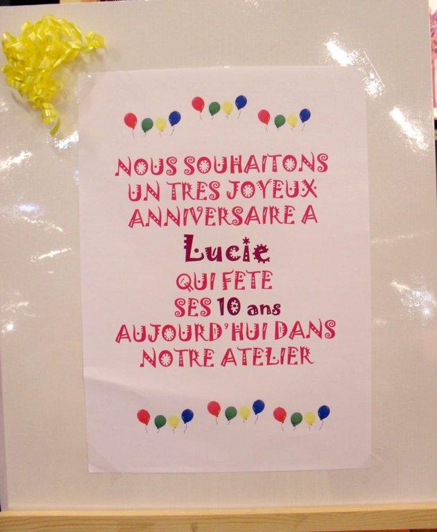 Joyeux Anniversaire Lucie Cultura