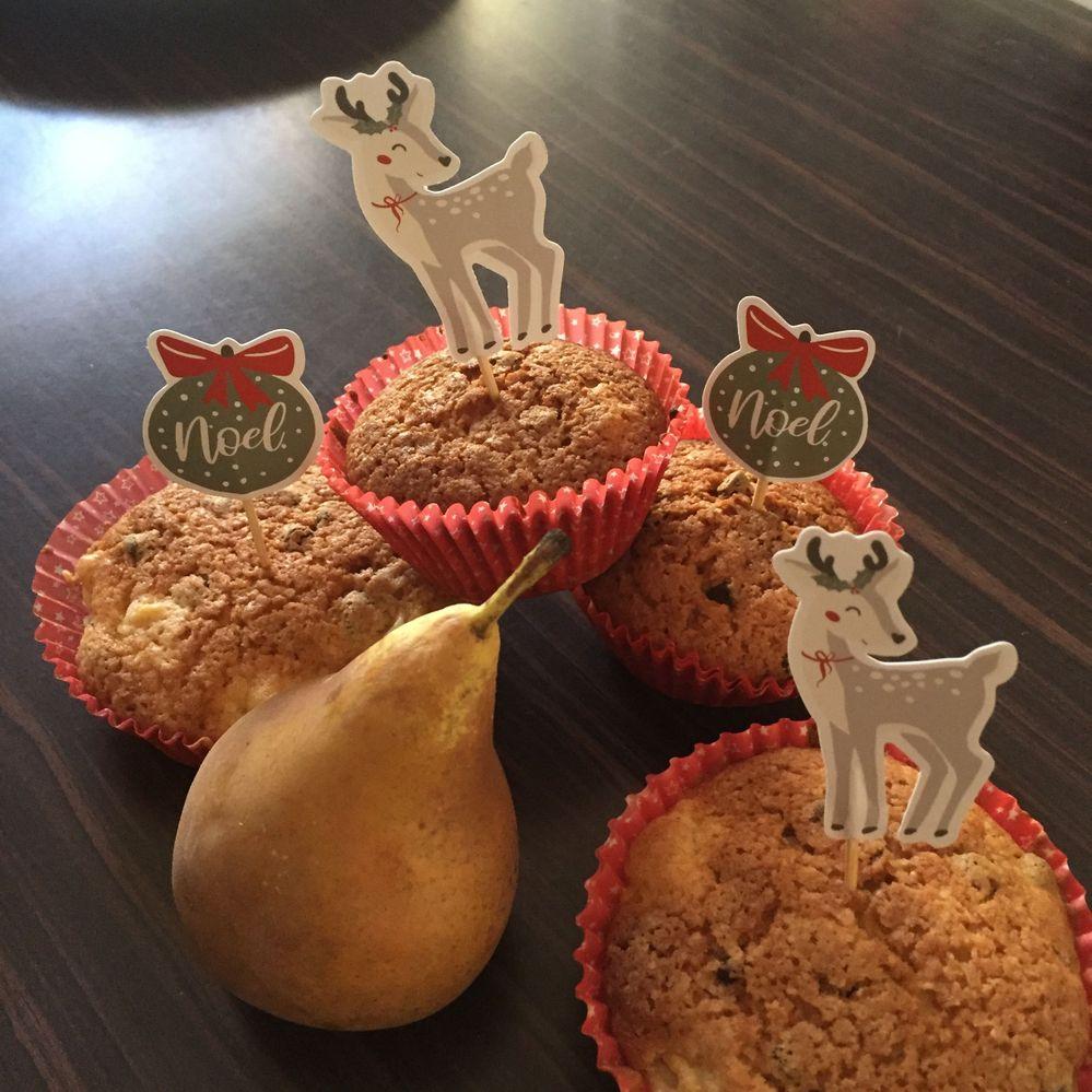 Muffins Poire choco