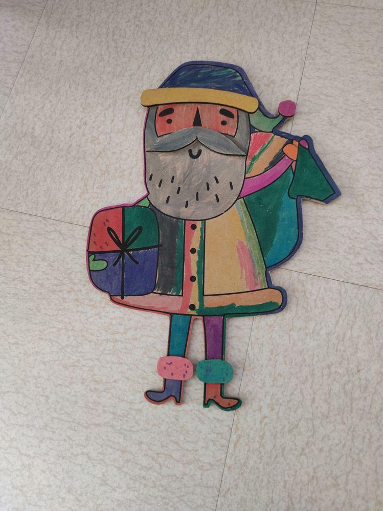 Le père Noël très coloré de Gabrielle