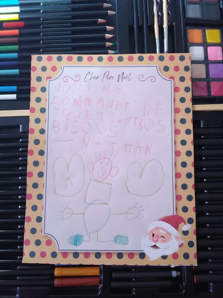 la lettre de Nathan au Père Noël