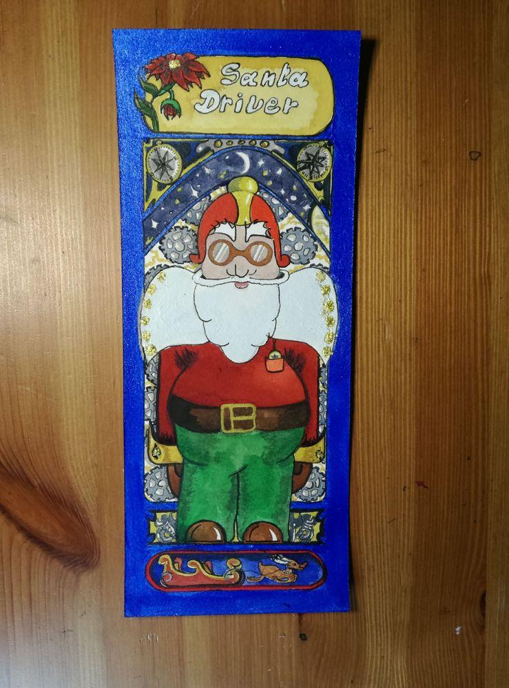 Le Père Noel conducteur