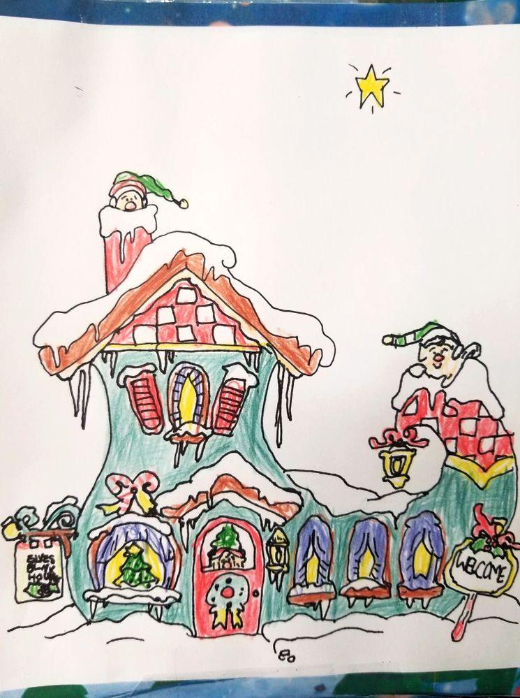La maison du père Noel de Léo 6 ans et demi catégorie 6-8 ans