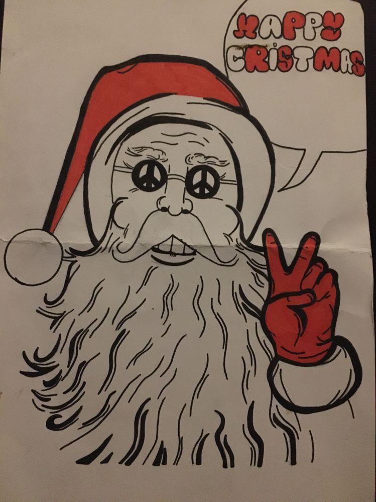 Un père Noël bien peace and love pour cette édition confinée