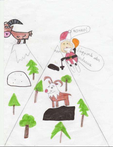 Dessin de ma fille de 8 ans - Bonnes fêtes