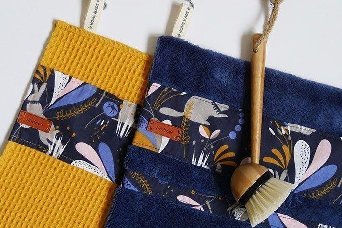 ETAPE 9/11 Conseil : Le tissu nid d'abeille peut aussi être utilisé pour coudre un rouleau d'essuie-tout réutilisable en tissu