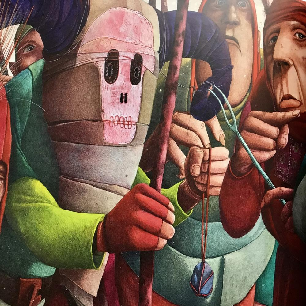 Judas pointant Jésus du doigt aux côtés des Pharisiens et soldats romains