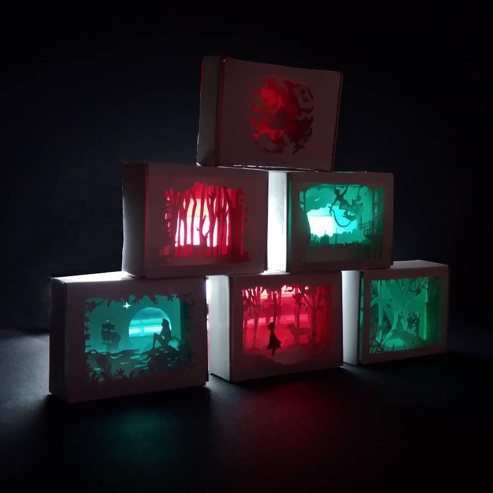 Lightbox avec lumière artificielle