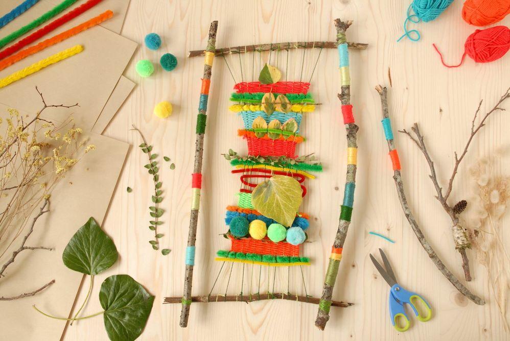 ETAPE 10/10 Le tissage végétal est prêt pour colorer le jardin ou la chambre de l'enfant.