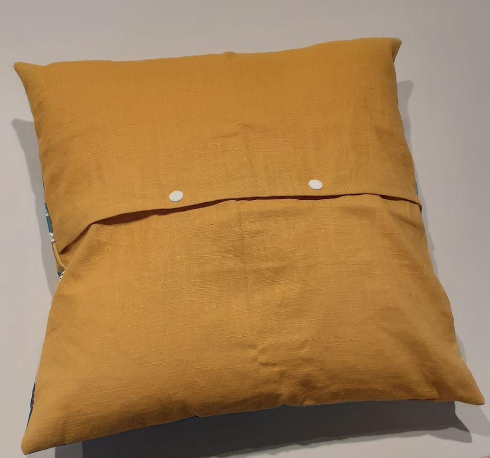 Pression plastiques avec pince Vario et adaptateur, tissu lin moutarde