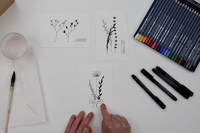ETAPE 3/9 : DESSIN DE L'ÉTIQUETTE Avec le feutre fin, dessiner une étiquette avec l'inscription à l'intérieur de votre choix.