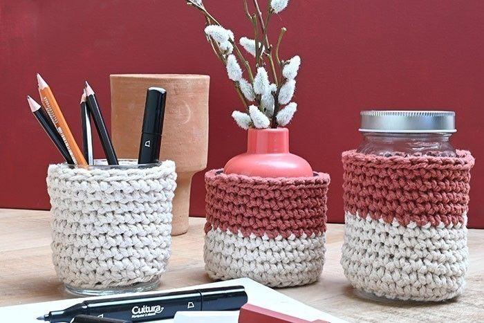 ETAPE 12/12 Votre cache-pot est prêt. Crochetez autant de cache-pots que vous le souhaitez pour personnaliser votre décoration d'intérieur.