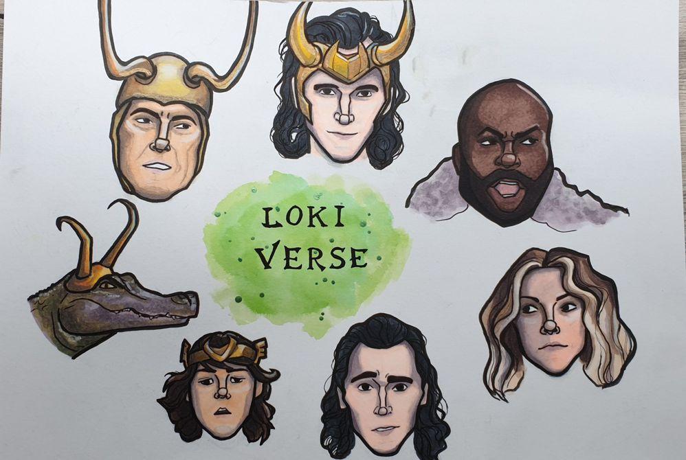 les Lokis de Marvel au feutre