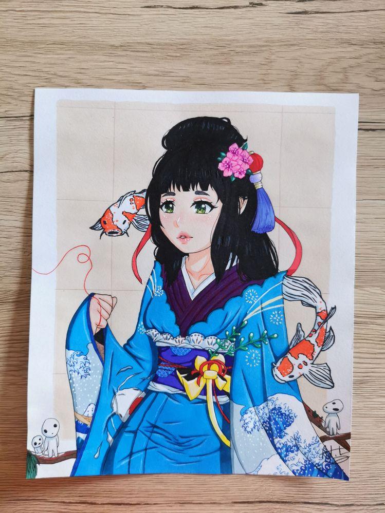 Portrait style manga au promarker