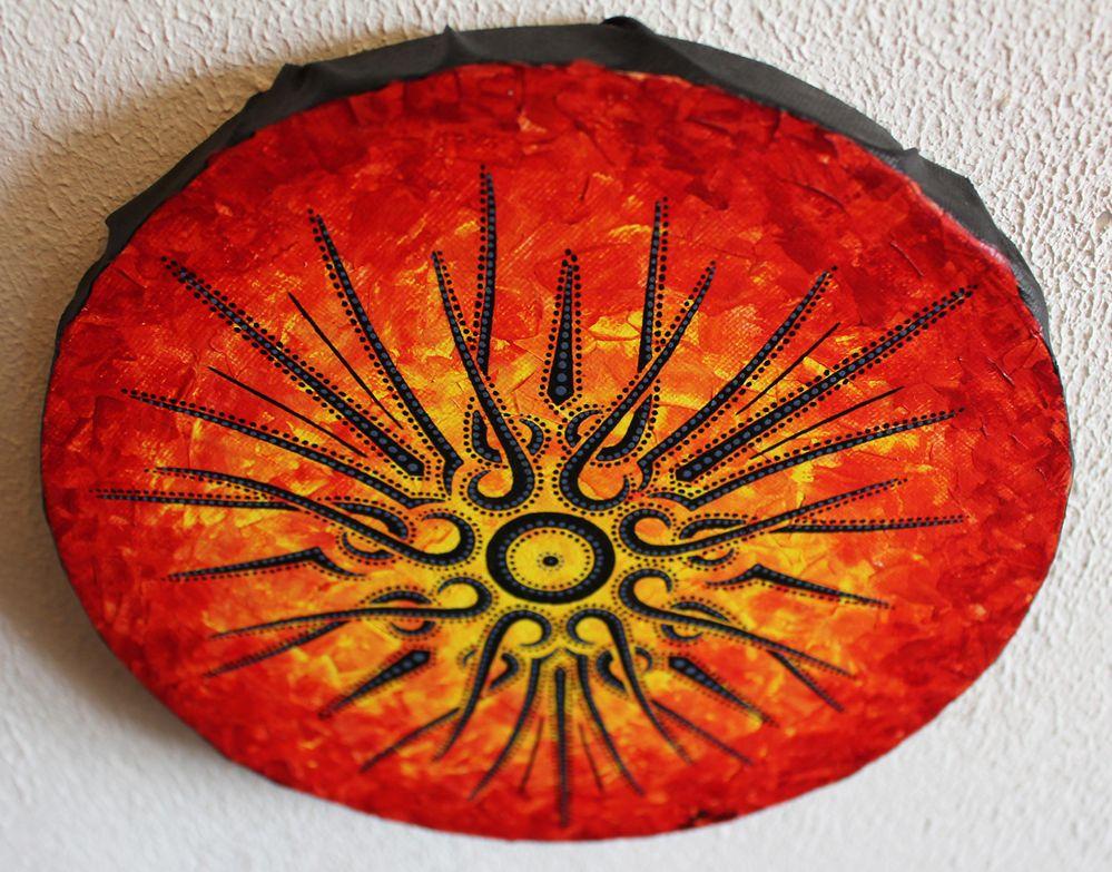 œuvre : Soleil abstrait, vue d'en haut.
