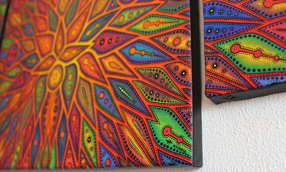 Peinture : Diffusion, vue signature