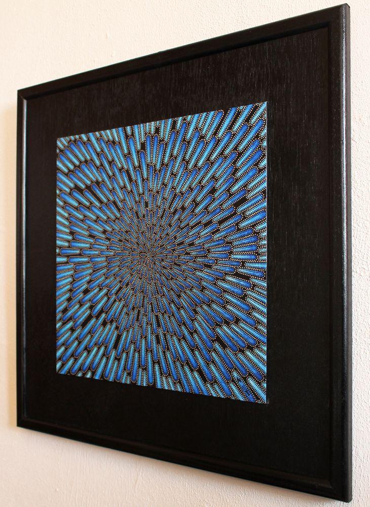 Tableau contemporain : Particule froide, vue de coté.