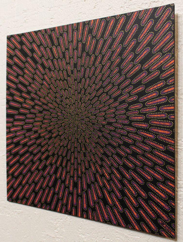 Tableau moderne : Particule violacée, vue de droite.