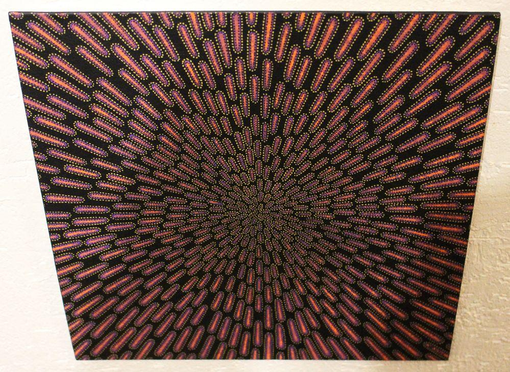 Tableau moderne : Particule violacée, vue d'en haut.