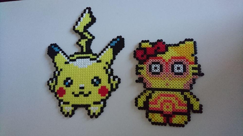 Perle Hama Pokemon Et Hello Kitty Cultura